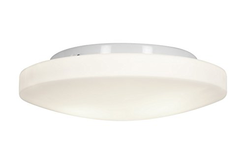 Access Lighting 50161Led-Wh/Opl Orion Led Light 13-Inch Diameter Flush Mount With Opal Glass Shade, White Finish
