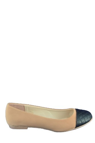 Palmer-04 Nude, R 10, women's cute fashion, quilled toe comfort ballerina flat, size 7