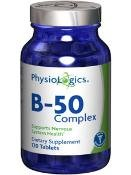 Physiologics B-50 Complex 120 Tabs