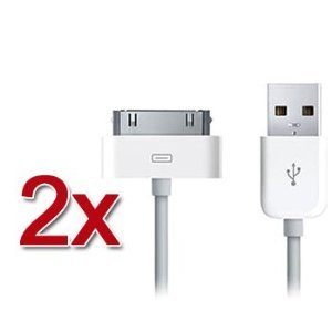 2 X Apple iPad 2 & iPad & iphone 4S iPhone 4 3GS 3G USB Data Sync & Charge charging Cable