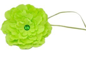 Stretchy Flower Headband for Baby, Toddler, Girl, Teen, Adult. Skinny Headband. Sally Lime.