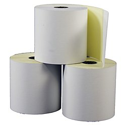 Office Depot(R) Brand Banking/Teller Window/ATM Rolls, 3in. x 90ft., 2-Ply, Self-Contained, Pack Of 50 Rolls