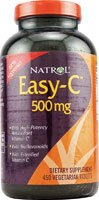 Natrol Easy-C, 500mg Vegetarian Capsules with Bioflavonoids, 450-Count