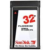 SanDisk 32MB PCMCIA PC Card II Flash Disk ATA Memory - ATA-32MB-SD