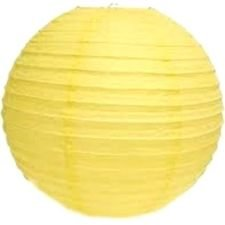 PrettyurParty Yellow Round Paper Lamps 16