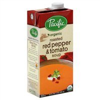 Pacific Organic Soup, Roasted Red Pepper & Tomato, 32 Oz. (Pack of 6) (Roasted Red Peppers In Water compare prices)