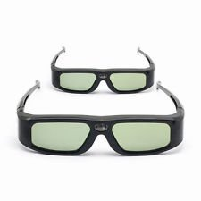 2 Pack of SainSonic SSZ-200DLB 144Hz 3D Infrared Active Rechargeable Shutter Glasses for 3D DLP-Link Projectors, TV and HDTV - Acer, Benq, Viewsonic, Optoma, Sharp, Mitsubishi, Nvdia, Sony, LG, TCL, P