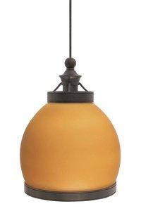 Wilmette Lighting 600Fjmfultaz-Led 1Lt 12-Volt Mini Fulton Freejack Led Pendant, Antique Bronze Finish With Amber Glass