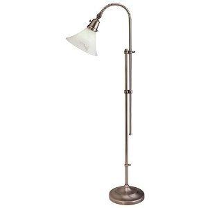 ott lite 18 watt lexington nickel sewing floor lamp. Black Bedroom Furniture Sets. Home Design Ideas