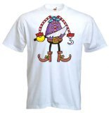 Tribal T-Shirts Men's Pirate Boy Outfit Costume Fancy Dress T-Shirt