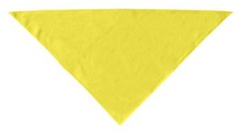 Dog Supplies Plain Bandana Yellow Small