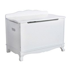 Classic Toy Box,Color White