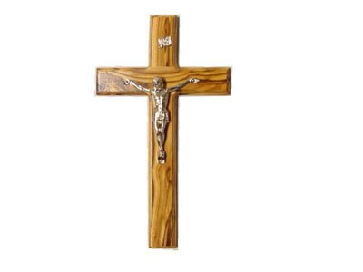 Olive Wood Cross with Crucifix (5.5
