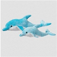 Douglas Cuddle Toys SILVIE BLUE DOLPHIN
