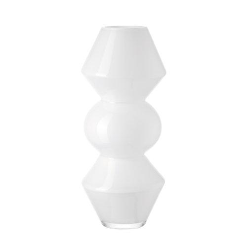 Leonardo 037640 Blumen Vase opal Forma, 40 cm weiß