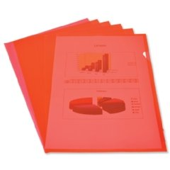 Elba Cut Flush Folder 80 Micron A4 Open Two Sides Red Ref 224209 [Pack 100]