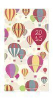 Slim Week To View 2015 Colourful Hot Air Balloons Diary