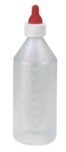 Lämmerflasche 1000ml Kunststoff mit Sauger