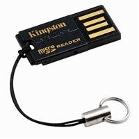Kingston G2 USB 2.0 microSDHC Flash Memory Card Reader FCR-MRG2 (Black) from Kingston Digital, Inc.