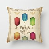 Kissing Rain Legend Of Zelda - The Rupees Of Hyrule Kingdom Gu Hellip; Throw Pillow By Barrett Biggersfor Your Home