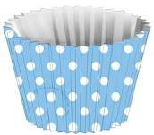 Tickled Blue Baby Shower Cupcake Liners - Boy Baby Shower Baking Cups - 50 Count