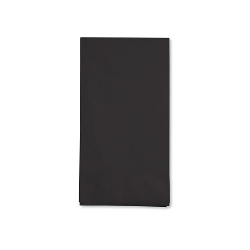 Creative Converting Touch of Color 16 Count 3-Ply Paper Guest Napkins, Black Velvet