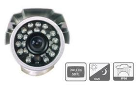 24pcs of IR LEDs Bullet Camera