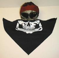 New Skull Half Face Biker Bandana Mask Bandanas Scarf