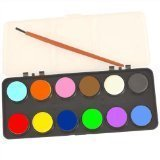 Kids Watercolour Paint Set 12 Colours With Brush Art & Craft by Playwrite