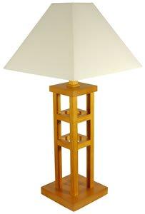 "Best Biggest Discount Deal Desk Bedside Reading - 27"" Wood Frame Architectural Table Lamp & Shade - Hon"