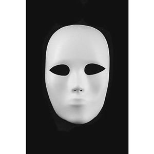 [Full Face Heavyweight Plastic Mask Theater Halloween Costume NEW] (Heavyweights Halloween Costume)