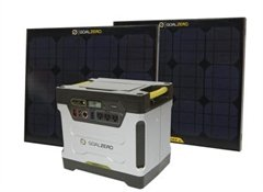 Goal Zero Yeti 1250 Solar Generator With 2 Extra Panels, One Extra Carrying, Tripod and 10 Boulder Quick-Clips