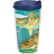 Tervis GH-I-16-WALL-WRA Guy Harvey Walleye Wrap Tumbler with Navy Lid, 16-Ounce