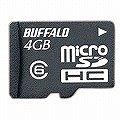 BUFFALO Class6 microSDHC 4GB RMSD-BS4G