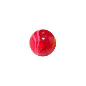 Piercing Kugel Acryl Rot UV Marmoriert - Piercing von VOTREPIERCING - Größe: 1.2 mm / 16 G - Kugel: 03 mm