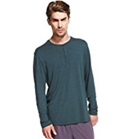 Autograph Henley Neck T-Shirt with Modal