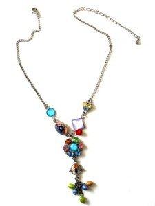 Crystal Flower Beads Necklace Vintage