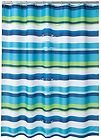 oblique royal blue aqua lime green u0026 white bold horizontal striped fabric shower curtain