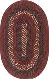Deerfield Oval Area Rug, 5 by 8-Feet, Deep Russet