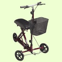 Medline Weil Knee Walker, Burgundy back-593613
