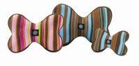Planet Dog Slobber-Wick Squeak Bone Toy Large Blue & Brown Strip