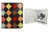 CaseGuru Diamond Dapper Print Protective Case Cover Featuring Document Sleeve & Magnetic Snap Closure for Kobo Mini