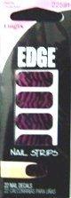 Fing'rs EDGE Nail Strips Black & Pink Zebra Pattern, 22 Nail Decals by Fing'rs EDGE Nails Strips
