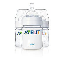 Philips AVENT 4 Ounce BPA Free Bottles 3 Pack (075020015730)