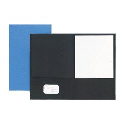 Pendaflex Two Pocket Portfolio, Black, Box of 25 (ESS5012705) Category: Portfolio and Report Covers