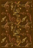 "Joy Carpets Kid Essentials Music & Special Needs Virtuoso Rug, Brown, 5'4"" x 7'8"""