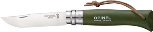 Opinel Trekking Khaki Folding Knife,3.25In,12C27 Mod Sandvik Stainless Blade,Kahaki Dyed Wood 1703