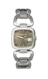 Gucci G-Gucci Stainless Steel Bracelet Brown Dial Women's Watch #YA125507