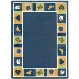 "Joy Carpets Kid Essentials Infants & Toddlers Baby Blues Rug, Bold, 3'10"" x 5'4"""