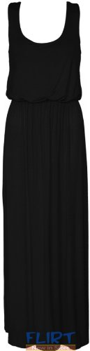 Womens Plus Big Size Balloon Maxi Dress Ladies Jersey Racer Back Vest Long Skirt